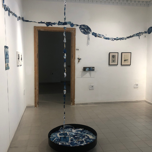"""2019 """"Wandering Between Light and Time"""", Duo with Alejandra Okret, Gordon London House, Rishon Letzion"""