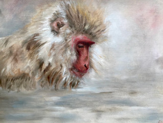 New Macaque paintings.