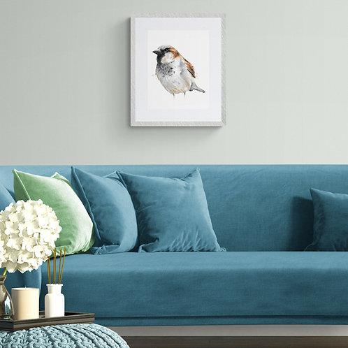 House Sparrow Print