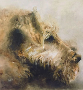 Pet Portrait, Irish Terrier painting, animal artwork
