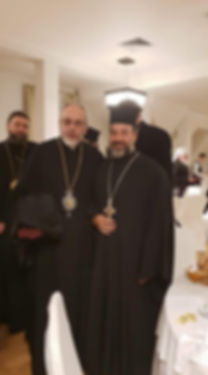 Archbishop Daniel Zelinsky with Fr Savas Pizanias