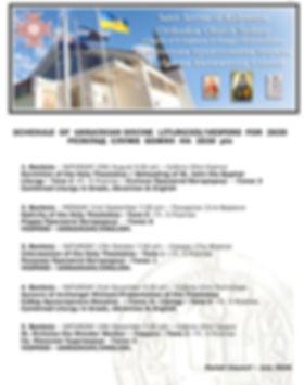 Divine Liturgy-Vespers Roster Banksia 20