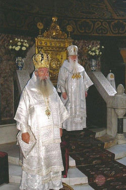 Bishop Chrysostomos with Patriarch