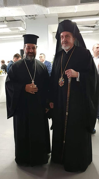 Metropolitan Emmanuel of France with Fr Savas Pizanias