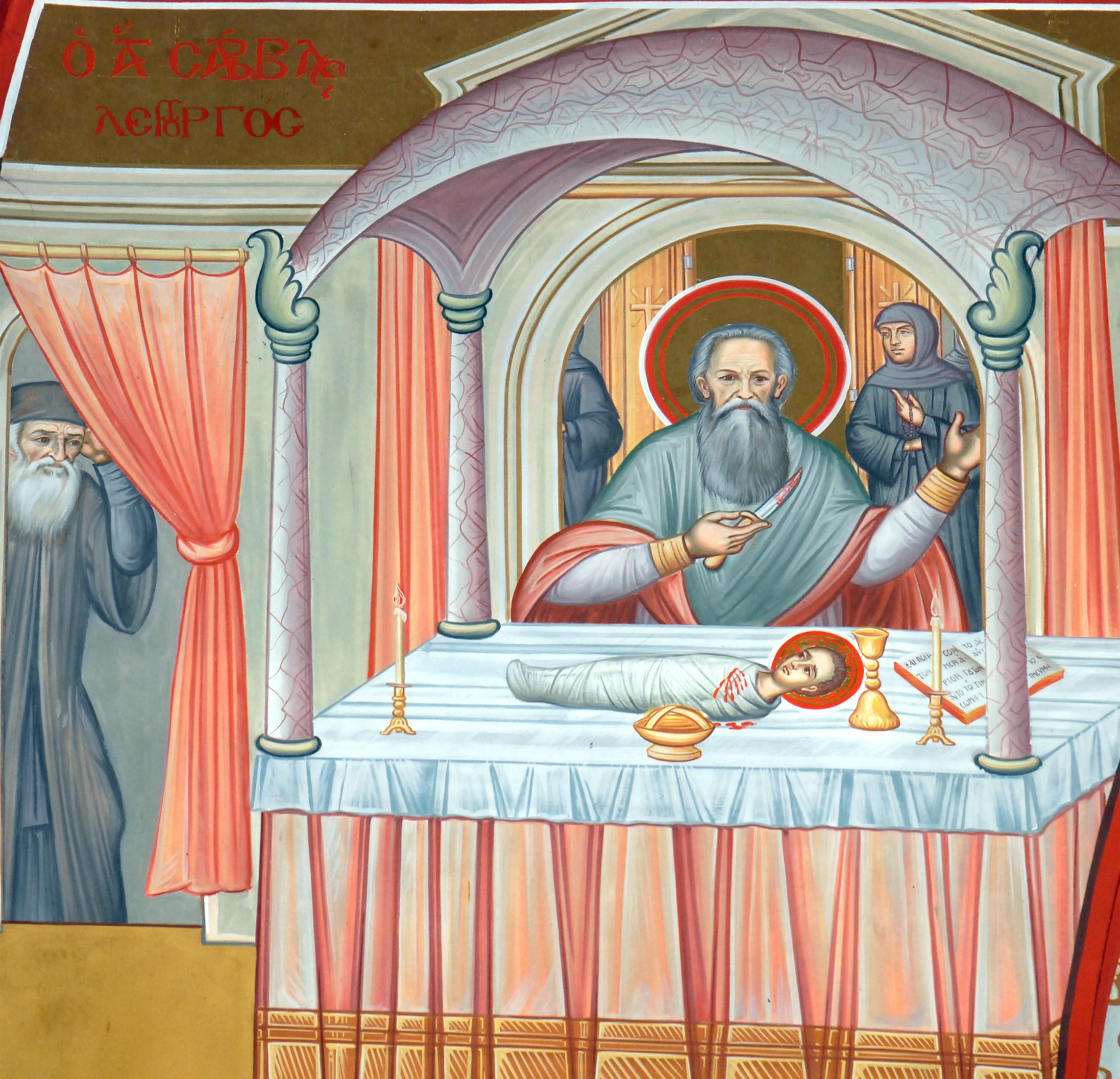 St Savvas of Kalymnos liturgising