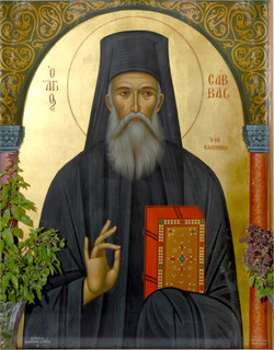 Saint Savvas- Icon from his church
