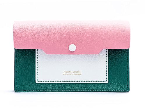 Abendtasche - Rosa & Grün