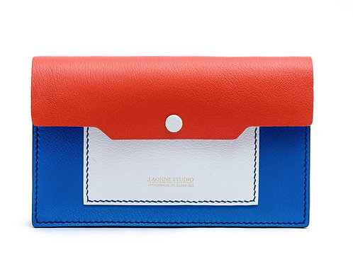 Abendtasche - Orange & Blau