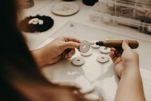 Creating polymer clay earrings