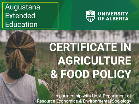 New Online Certificate in Ag &Food Policy