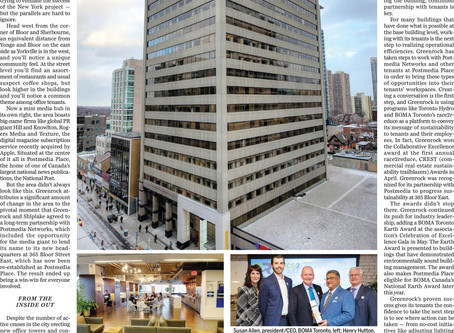 Greenrock goes green and beyond to transform Postmedia Place
