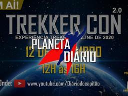 TrekkerCon 2.0 Dia 12 de Setembro de 2020. Evento online. Horário: 12h.
