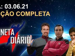 Planeta Diário - 03/06/21 William Shatner com  Mike Tyson/ O Legado de Júpiter cancelado/Paramount +