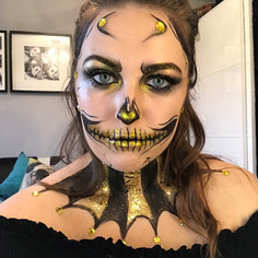 Glitter skull makeup - CHARLEY PAYNE MUA