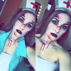 Dead Nurse Makeup - CHARLEY PAYNE MUA