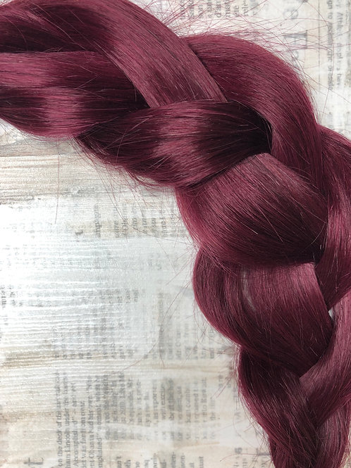 Волосы славянские на лентах Цвет #99J Тёмный фиолетовый