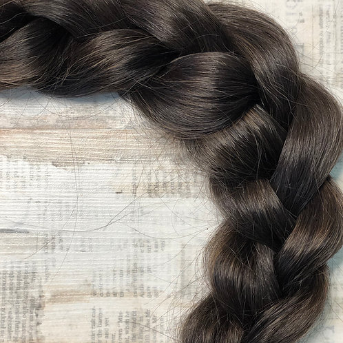 Волосы славянские на капсулах Цвет #2 Черно - каштановый