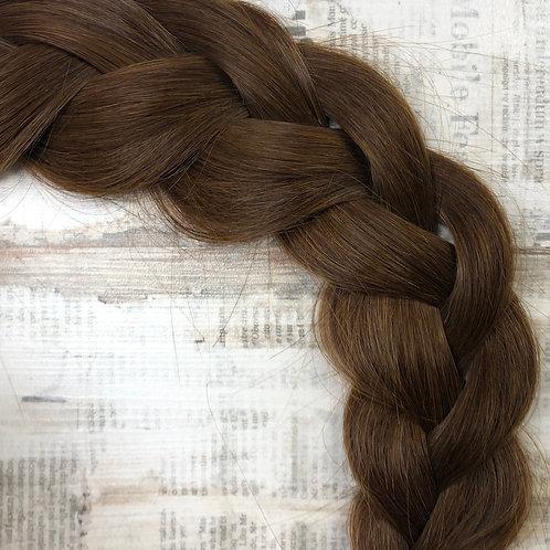 Волосы славянские в срезе Цвет #3в Глубокий - каштановый
