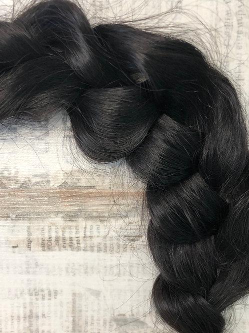 Волосы  на заколках (накладные пряди) Цвет #1 Чёрный