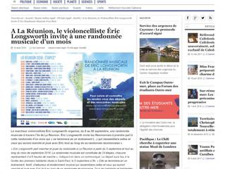 """Outremers 360° """"A La Réunion, le violoncelliste Éric Longsworth invite à une randonnée musicale"""