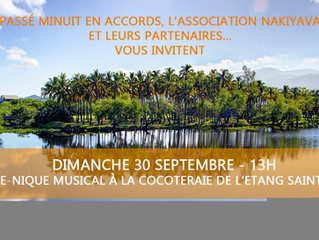 Dernier RDV dimanche le 30 septembre Piquenique musical à St-Paul
