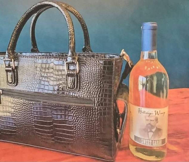 #17 Halliday's Wine with wine purse