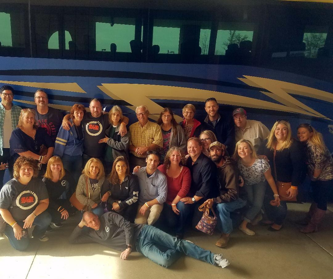 The crew of the casino bus trip!