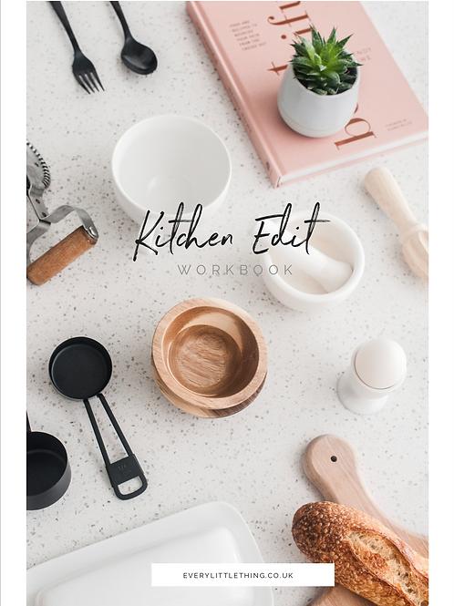 Kitchen Edit Workbook - Declutter and Organise your kitchen