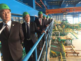 長良川木材事業協同組合・製材工場視察
