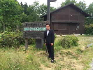 産業建設委員会所管の公共施設を山田委員長と回りました.