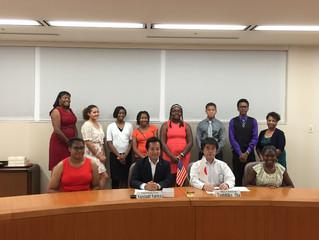 デトロイト市交換学生表敬訪問