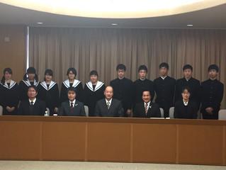 豊田西高校イギリス海外研修事業派遣団出国挨拶