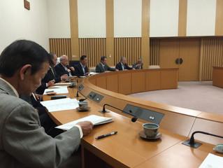地元区長会と豊田市建設部・社会部の部課長との意見交換会