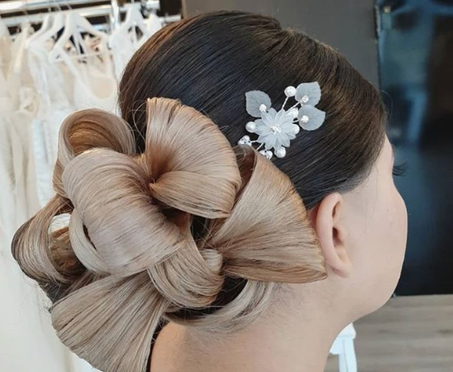 Getting Ready in Hochzeitsatelier Tatjana