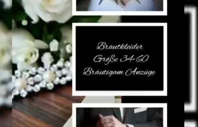 Brautkleider verschiedenen Größen.