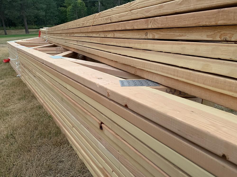 trusses, custom home, north idaho, home builder