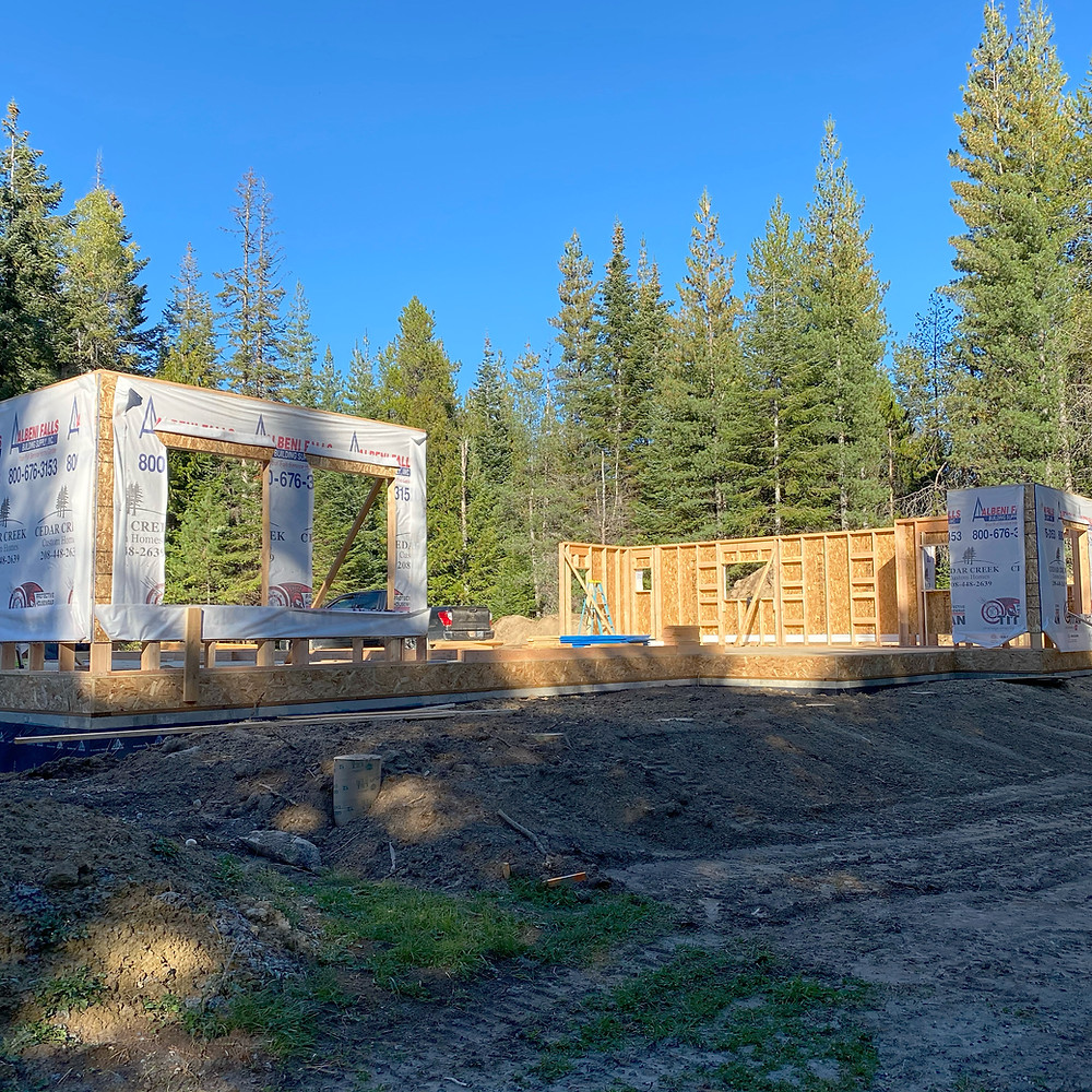 framing, custom home, priest river, priest lake
