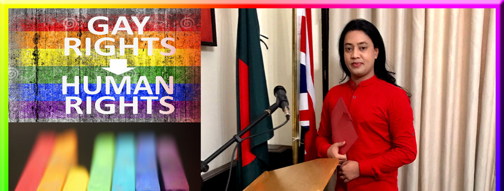 Chairperson- Leading the first Bangladeshi LGBT Organisation in the UK: Apanjon