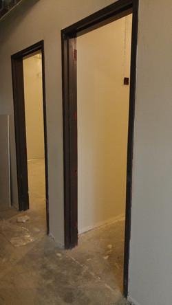 Door frame first coat
