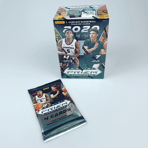 2020 Panini Prizm Draft 1 Factory Sealed 4 Pack from A Blaster Break Box