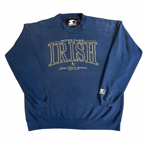 Notre Dame Fighting Irish Crewneck - Starter - XL