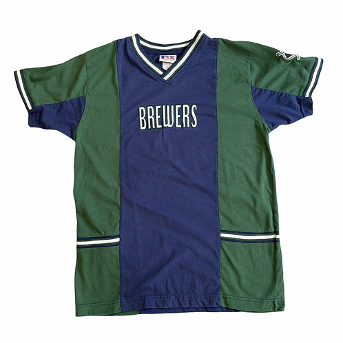 Milwaukee Brewers Embroidered Tee Youth L