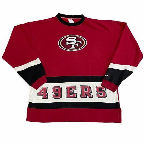 San Francisco 49ers Embroidered Crewneck 2XL