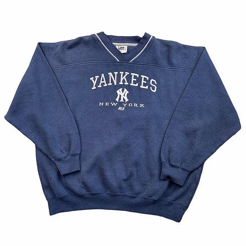 Yankees Embroidered Crewneck - bel 2XL