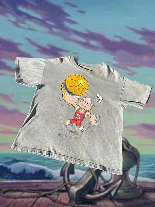 1995 Popeye Basketball Tee - Believe L
