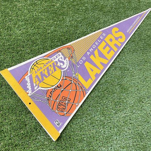 Vintage NBA Lakers Felt Pennant