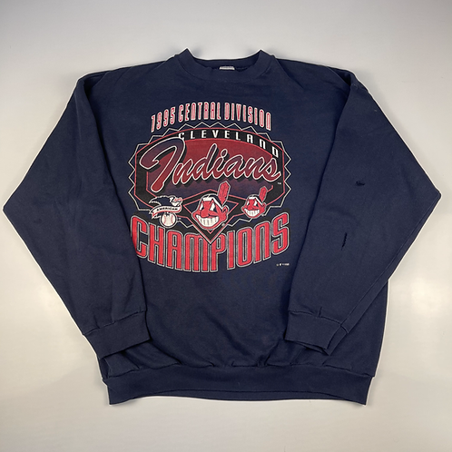 1995  Cleveland Indians Crew - XL Logo7 Tags