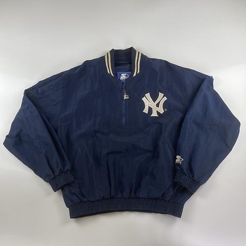 New York Yankees Starter 80s  Pullover 1/4 Zip Jacket - L