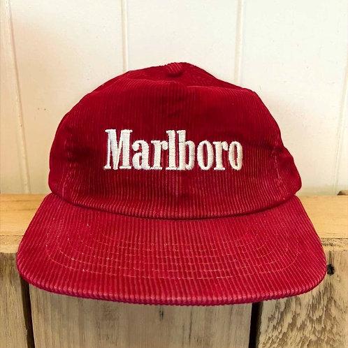 Vtg Marlboro Red Coduroy Snapback