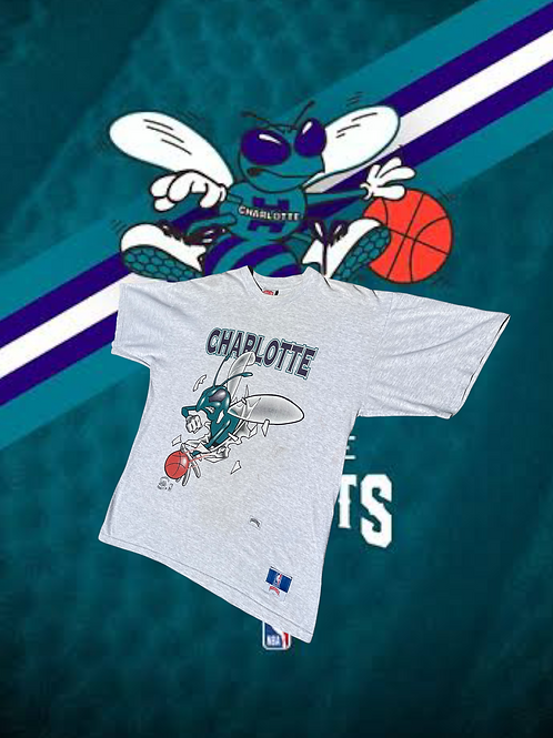 90s Double Sided Charlotte Hornets Tee XL